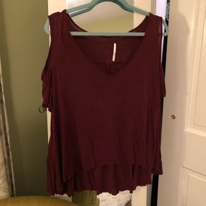 Free people red top